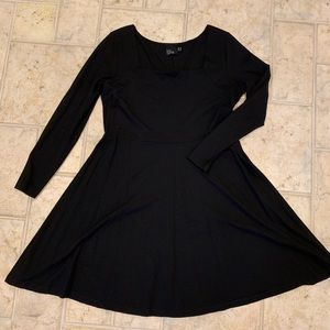 ASOS Curve Black Long Sleeve Dress